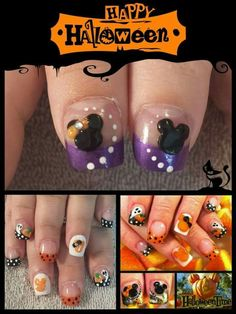 Halloween Disney nails