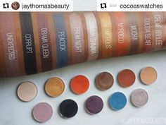 I don't buy makeup geek but aren't these pretty? #Repost @cocoaswatches with @repostapp  @makeupgeekcosmetics shadow swatches by @jaythomasbeauty  #CocoaSwatches #Repost  Swatches of my new @makeupgeekcosmetics eyeshadows! Finally got around to posting these! I made my first purchase a couple of weeks ago and I got the 9pc set (Crême Brûlée Cocoa Bear Mocha Glamorous Shimma Shimma Corrupt Prom Night Drama Queen) and added Morocco and Peacock! Idk why it took me sooooo long to finally order…