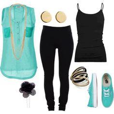 Outfit casual con un toque de color. Encuentra más tendencias en http://www.1001consejos.com/