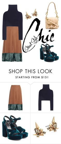 """""""street style chic"""" by janesmiley ❤ liked on Polyvore featuring Valentino, Jil Sander, Alexis Bittar and Niels Peeraer"""
