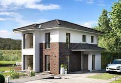 Edition 2 V6 - Bien Zenker - http://www.hausbaudirekt.de/haus/edition-2-v6/ - Fertighaus als Einfamilienhaus Modernes Haus Stadthaus mit Walmdach