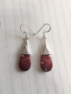 Colorz Of Earth: Mokite Gemstone Earrings in 925 Sterling Silver #ColorzOfEarth #DropDangle