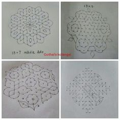 Flowers drawing simple geometric Ideas for 2020 Indian Rangoli Designs, Rangoli Designs Latest, Simple Rangoli Designs Images, Rangoli Designs Flower, Rangoli Border Designs, Small Rangoli Design, Rangoli Patterns, Rangoli Designs With Dots, Rangoli With Dots