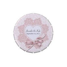 Shabby Pink Victorian Style Wedding Favor Candy Tins