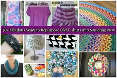 10 Fabulous DIY Ways to Recycle Old Tees into something new, t-shirt repurpose/recycle ideas and tutorials #crafts, #sew, #t-shirt