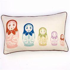 Cute and cultural...Thomas Paul Matryoska Pillow  Who doesn't like a nesting doll, lol.