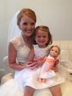 Matching Doll dress for Flower Girl