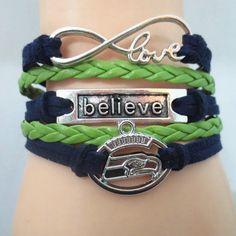 Seattle Seahawks Believe Bracelet - Free Shipping