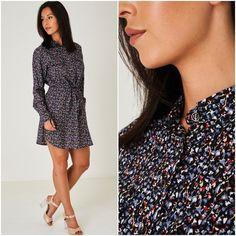 Womens Button Up Classic Collared Floral Shirt Dress Black Cotton 8 - 16 Denim Dresses, Floral Shirt Dress, Shirtdress, Dress Black, Button Up, Collars, Summer Dresses, Clothes For Women, Classic