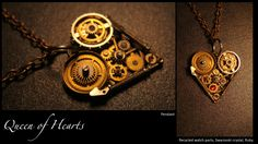 Pendant from Antique watch parts
