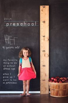 Chalk Wall Photo Idea - First Day of School Traditions - Photos