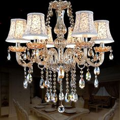 Cheap modern lustres, Buy Quality lustres de cristal directly from China crystal chandelier lamp Suppliers: Modern Chandelier Lighting lustres de cristal moderne lustre for home lighting Bedroom Kitchen Dining Crystal chandelier lamp Cheap Chandelier, Iron Chandeliers, Candle Chandelier, Antique Chandelier, Modern Chandelier, Chandelier Lighting, Kitchen Chandelier, Buffet Table Lamps, Solar Lights