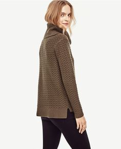 Cashmere Stitch Cowl Neck Sweater | Ann Taylor