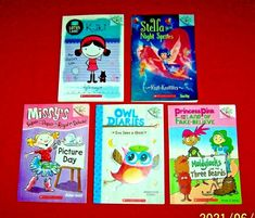 5 Chapter Books Branches Ages 6-9 Princess Pink Owl Diaries Stella Missy Girls