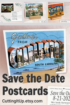 I have Greetings From Save the Date Postcards from all 50 states and a variety of cities. All of my Save the Date postcards can also be changed to have an RSVP Postcards, Change the Date or a message to your guests on the back instead. Just add a note at checkout about what you have in mind and I'll do a custom design, just for you! Softball Wedding, Basketball Wedding, Golf Wedding, Sports Wedding, Rsvp Postcards, Save The Date Postcards, Reception Signs, Wedding Reception, Wedding Ideas