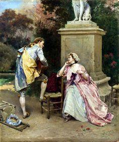 The Serenade by Raimundo de Madrazo y Garreta (1841-1920)