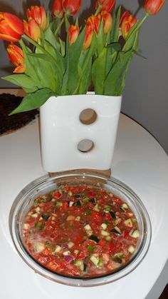 Finished Bowl of Gazpacho