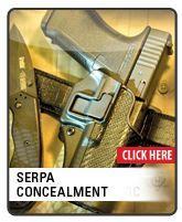 This provides safety yet allows a quick draw for tactical applications.