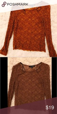 **FINAL PRICE**Forever 21 lace top Beautiful mustard gold colored lace top gently used no signs of wear Forever 21 Tops Blouses