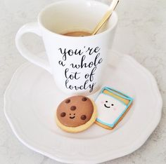 Coffee and milk and cookies