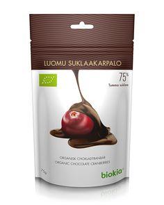 Arándanos rojos orgánicos deshidratados con chocolate negro organico