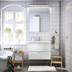 Bathroom: choose your favorite combination ikea bathroom planner Gray Bathroom Decor, Zen Bathroom, Bathroom Styling, Bathroom Furniture, Bathroom Interior, Small Bathroom, Bathroom Ideas, Bathroom Storage, Bathroom Accessories