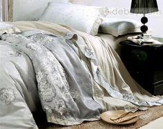 4 piece ivory jacquard floral drill duvet cover bedding sets satin bedding bedding sets