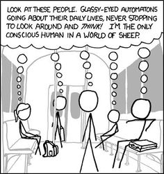 The Only Conscious Human Alive #comic #comicstrip #cartoon