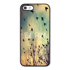 Be Free Birds Cute Quote Retro Vintage Phonecase for iPhone 5/5S Case