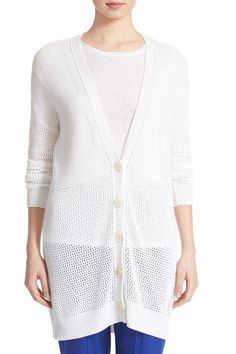 Mesh Stitch Cardigan by VINCE. on @nordstrom_rack