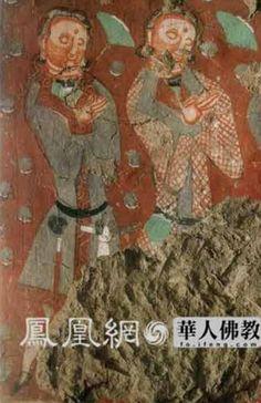 Kizil cave donor figures, Tarim Basin
