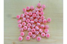 Χάντρα Νο10 27314P  Χάντρες ροζ με λευκή ρίγαΜέγεθος: 10mmΣυσκευασία 50 τεμαχίων. Beads, Beading, Bead, Pearls, Ruffle Beading, Pony Beads, Seed Beads