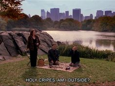 "O is for Outside. | The Alphabet According To Karen Walker Of ""Will & Grace"""