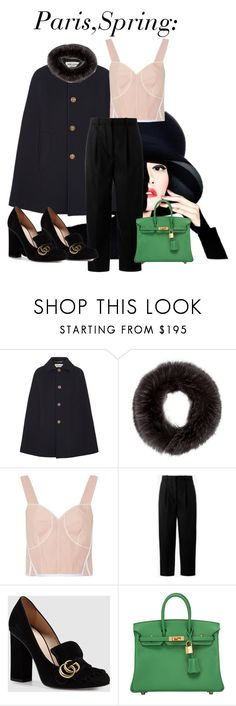 """""""Paris,Spring;"""" by embla-elde-1 on Polyvore featuring Yves Saint Laurent, Theory, Calvin Klein Collection, Acne Studios, Gucci, Hermès and modern"""