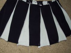 Great way to make a cheerleader skirt