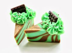 Petals Bath Boutique: On the Curing Rack: COCO MINT Soap Cake Slices