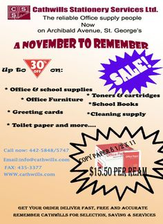 Cathwills Stationery Services Ltd 'A November to Remember'
