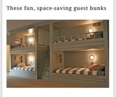 These are nice bunk beds