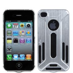 Brushed Aluminum Transformers Hard Case for #iPhone 4/4S