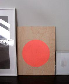 circle screenprint on plywood by sandrathomsen on Etsy, €89.00