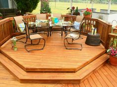 Easy DIY Raised Deck Plans for you to try for your outdoor space Wood Deck Designs, Pergola Designs, Pergola Kits, Pergola Ideas, Backyard Ideas, Agriculture, Farming, Wooden Pergola, Wooden Decks