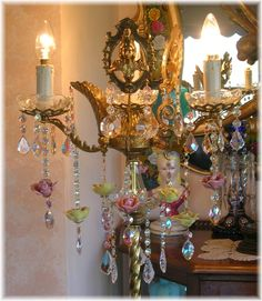 Luminary Loveliness, Chandeliers & Ceiling Lights...~capodimonte chandelier