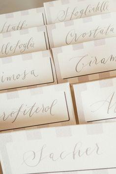 wedding stationery - Calligraficaluna per L'Angolo del Fiore di Rosita segnatavolo