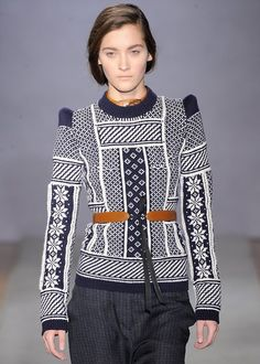wgsn:  The hint of an alpine theme in this knit from @Margiela #pfw