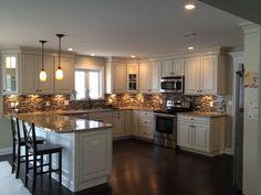 u-shaped peninsula kitchen - Google Search