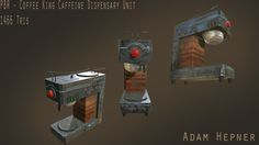 The Coffee King Caffeine Dispensary Unit - A quick prop I created to learn Substance Painter. What I learned from this project: Substance Painter The Unit, King, Coffee, Artwork, Kaffee, Work Of Art, Cup Of Coffee