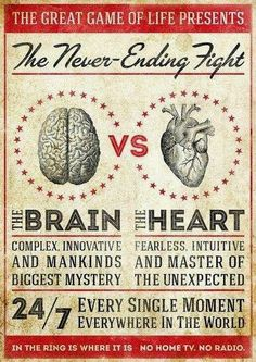 The great Game of Life present The Never-Ending Fight The brain vs the heart   Anonymous ART of Revolution