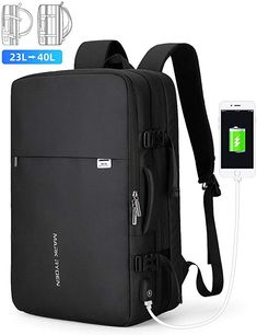 Mark Ryden Business Carry-on Travel Backpack, Lightweight Flight-Approved Expandable Weekender Bag with USB Charging Port fit Laptop - Top Luggage UK Mark Ryden, Notebook Rucksack, Laptop Rucksack, Laptop Bags, Hand Luggage, Luggage Sets, Business Rucksack, Childrens Luggage, Backpack Online