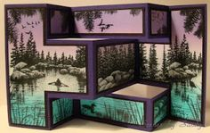 Tri-fold Shutter Stampscapes beautiful... doubt I could do it.. but I do like it