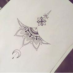 tattoo no meio peito - Tattoos - Tatouage Small Chest Tattoos, Chest Tattoos For Women, Back Tattoos, Foot Tattoos, Cute Tattoos, Beautiful Tattoos, New Tattoos, Tatoos, Tattoo Women